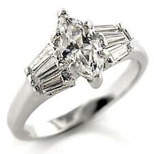 0.85 Ct Clear Marquise Cut CZ Womens Wedding Engagement Anniversary Ring