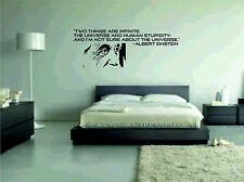 Two things are infinite Albert Einstein Vinyl Wall Sticker art large pic graphic