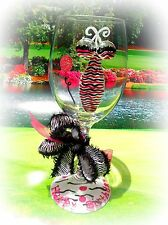 Happy Birthday Wine Glass Fun Gift Celebrate Friend Whimsical Party Cougar