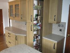 NEW 22MM THICK MEDIUM OAK SHAKER REPLACEMENT KITCHEN DOORS + DRAWER FRONTAGES