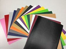 100mm x 200mm Carbon Fibre 3D Textured Vinyl Sheet Sticker Tint Car Van Vehicle