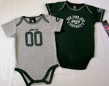 NY Jets Baby Infant One Piece Creeper 2 Pack NWT