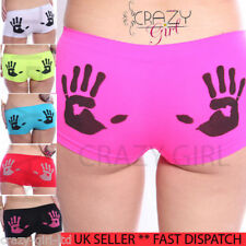 New Womens Ladies Hipster HotPants Brief Boxer Shorts Underwear Boxers Size 6-18