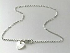 Anklet,Ankle Bracelet,Solid Sterling Silver Ankle Chain, Cream Shell Heart Charm