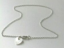 Sterling Silver Anklet, Ankle Bracelet, Cream Heart Charm Ankle Chain for Women