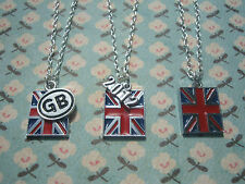 FUNKY UNION JACK FLAG NECKLACE QUEENS JUBILEE OLYMPICS GREAT BRITAIN BRITISH