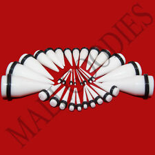 V061 White Ear Stretchers Tapers Expanders 14 12 10 8 6 4 2 0 00 G Gauges n Kit
