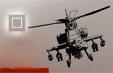 Army Helicopter wall art sticker bedroom Kids Childrens decal