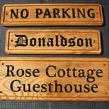 SOLID OAK Wooden House/Door/Name/Number/Gate/Wall/Garden/Fence/Gift/Plaque/Sign