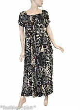 Leopard Animal  Print Smock Dress Plus Size Maxi Long NWT 16 18 20