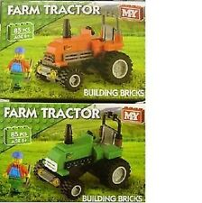 85 Pce M.Y Building Bricks Build Your Own Tractor Kit Age 6 Years+ (HL61)
