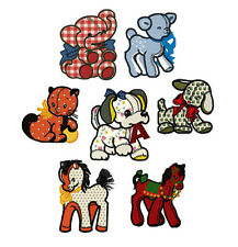"ABC Designs Plush Creatures Applique Machine Embroidery Designs SET 5""x7"" hoop"