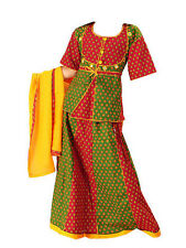 Rajasthani Lehanga Choli Ghagara Girls Traditional Indian Dress Rajasthani Gift
