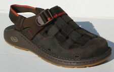CHACO DILEMMA GUNNISON VIBRAM MEN'S LEATHER FISHERMAN STYLE BROWN SANDALS SHOES