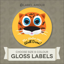 PERSONALISED Teacher School Reward Labels. Choose animal, your text. 3 sizes