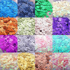 1200pcs round 4mm 5mm flat 7mm cup loose sequins sewing bridal craft