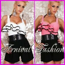 NEW SEXY WOMENS FORMAL WEAR SHORT OVERALL belt DESIGNER JUMPSUIT CASUAL FASHIONS