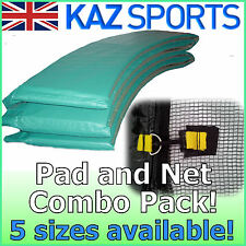 REPLACEMENT PVC TRAMPOLINE PADDING/PAD/SURROUND AND NET COMBO PACK!