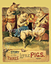 Three Little Pigs - CANVAS OR PRINT WALL ART