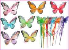 2pc Set Monarch Butterfly Wings Wand Dress Up Costume Party Wholesale Wings