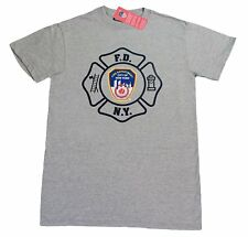 MENS GRAY FDNY T-SHIRT FIRE DEPT NEW YORK CITY OFFICIAL NYFD Tee with tags NYC