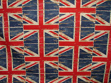 Union Jack Flag Denim Prestigious Retro Designer Curtain Upholstery Fabric