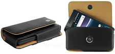 Leather Horizontal Carrying Case Pouch Holder for LG Phones. +Holster Belt Clip