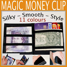 NEW MAGIC MONEY CLIP wallet SUPER Slim as iPhone. 2 styles - 11 colours in UK