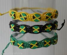 "Country Flag String/Rope Bracelets 3 Colors 6"" long with Tie Sting Ends"