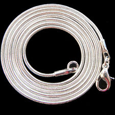 wholesale! Pretty 10pcs sliver plated snake chain charm necklace 16'' 19'' 23''