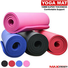 MAXSTRENGTH® Yoga Mat Fitness Exercise Gym Aerobics Roll Up Non Slip Carry Case
