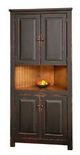 Primitive Rustic Corner Cabinet Pantry Country Kitchen Cottage Furniture Wood