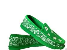 KELLY GREEN BANDANA HOUSE SHOES SLIPPERS TROOPER BRAND NEW SIZE 8  9 10 11 12 13