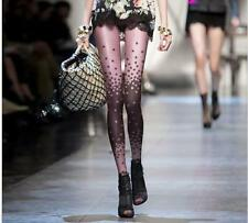 Two-color Beautiful Flower Pattern Transparent Tattoo Pantyhose Tights Leggings