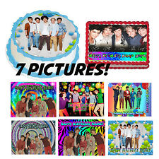 Edible cake image ONE DIRECTION topper birthday for cake sticker photo picture