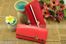 Women's Lady PU Leather Purse Wallet Handbag Bag Butterfly Flap