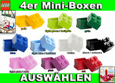 LEGO 4er Mini Dose Snackbox zur Brotdose Lunchbox Obst&Sweets in Schule Pause