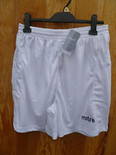 MITRE AREN FOOTBALL SPORTS SHORTS TRAINING GYM NAVY RED WHITE BOY YOUTH M L