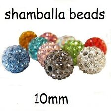 10mm Premium Quality Clay Crystal Disco Ball Beads Make Shamballa Bracelects