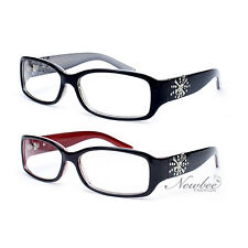 2 Pairs New Women Fashion Clear Lens Glasses Rhinestone Design  6 Various Colors