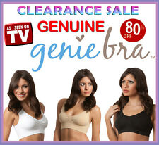 3 x Pack Smart Genie Bra with Pads Seamless Bras Set Shapewear S M L XL XXL XXXL