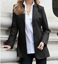 ladies women's winter genuine leather black blazer jacket coat plus1X 2X 3X 4X