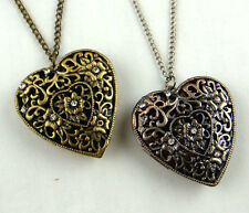 Vintage Hollow Heart Spicery Locket Necklace pendant