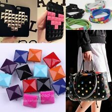7Colors Rock Stylish Pyramid Stud Rivet For bags/costume/Shoes Leather Craft