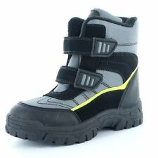 Boys Goody2Shoes Grey Bungee Snow Boots sizes 10 - 2