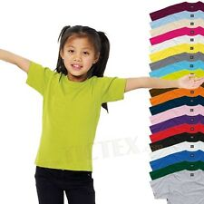 SG15K KIDS T SHIRT GREAT QUALITY! 6 SIZES 20 COLOURS AVAILABLE!