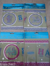 Me to You Happy Birthday, 1st, 30th, 40th Party Banner`s FREE POST