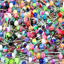 V099 Acrylic Tongue Rings Barbells YOU PICK QUANTITY & DESIGNS Best Selection!!