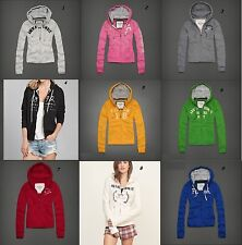 NWT Abercrombie & Fitch Hoodie Zipper Thick Jacket Sweat sz XS S M L