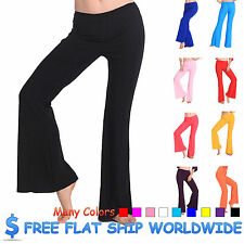 d6b# 1 pc Solid Color Latin / Belly Dance / Fitness Elastic Trousers pant